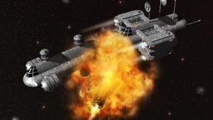exploding ship