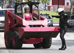 woman bulldozer