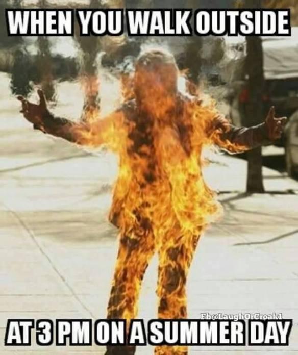slob, humor, on fire