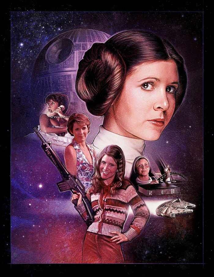 Carrie Fisher by Paul Shipper