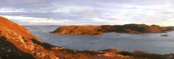 View over the gulf of Corryvreckan toward Eilean Beag and the Island of Jura. Image: © Copyright Tony Page