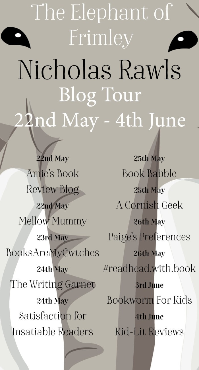 #BlogTour. #Review – The Elephant of Frimley by Nicholas Rawls. @AuthorightUKPR