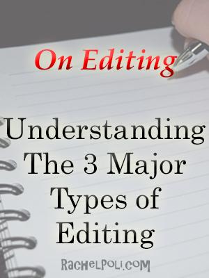 Understanding The 3 Major Types of Editing