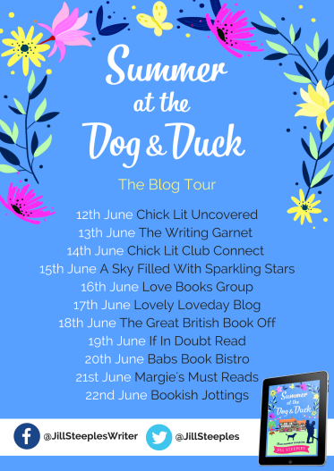Summer at the Dog & Duck - blog tour banner