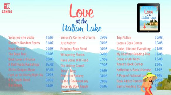 Love at the Italian Lake Blog Tour Header