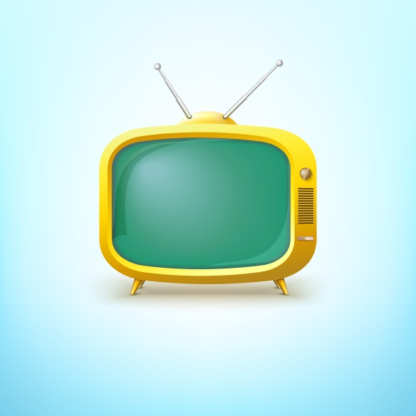 TV in cartoon style with bright color