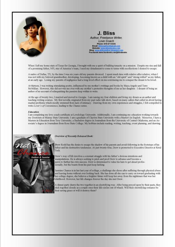 J Bliss Press Kit Info