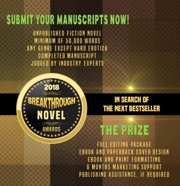 Breakthrough Novel Awards 2018