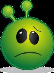 Green sickly emoticon